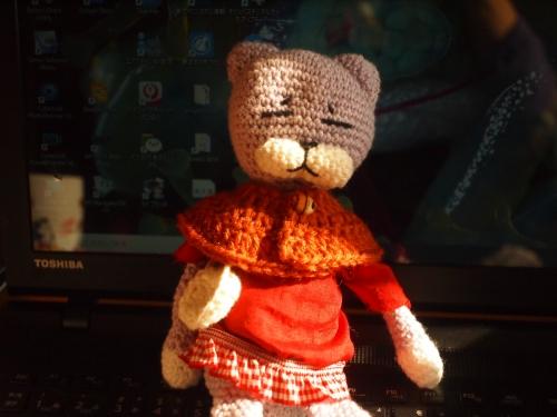 括弧ちゃん ケープ #かぎ針編み #初心者 #編み物 #ぬいぐるみ服 #Knit #sewing