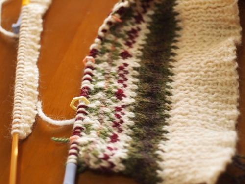 #初心者 #編み物 #棒針編み #Knit #sewing チョッキ ベスト