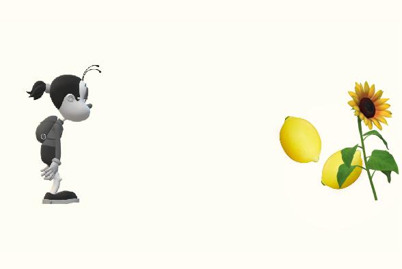 レモンとひまわり