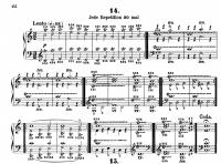 チェルニー毎日の練習曲14番