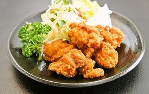 大山鶏の唐揚げ定食
