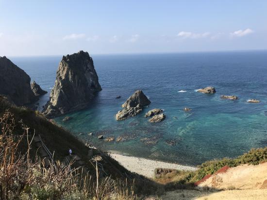 島武意海岸からの眺め