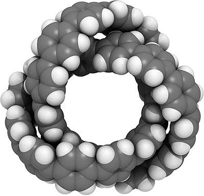 炭素の結び目の合成に世界初成功