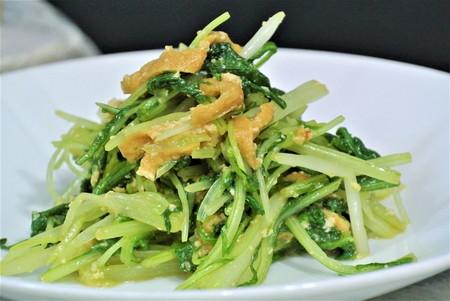 水菜と油揚げのわさび和え-3