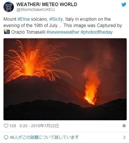 【イタリア】ヨーロッパ最大の活火山「エトナ山」がまたも噴火!