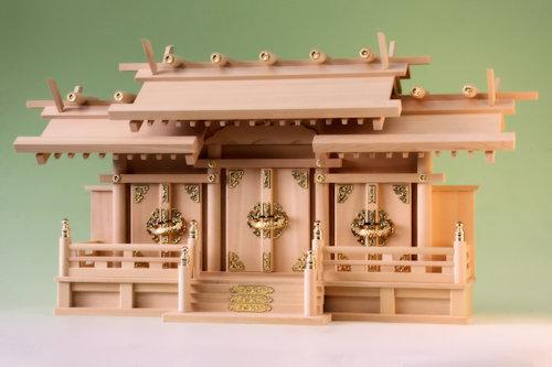 尾州桧で作る神棚 出雲神殿三社