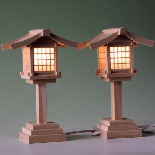 尾州桧で作る木製灯篭