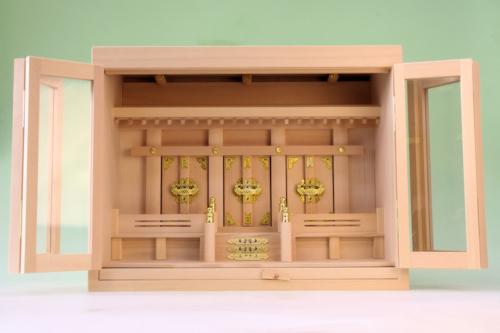 尾州桧で作る箱宮神殿