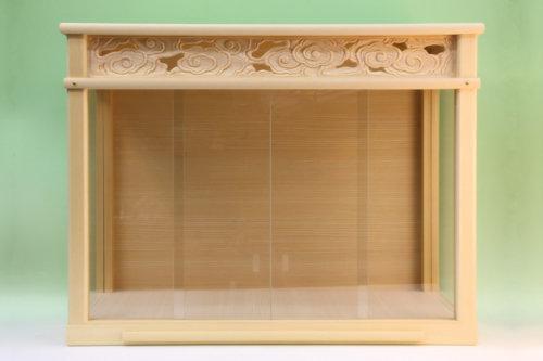 神棚をすっぽり収められるガラスケース