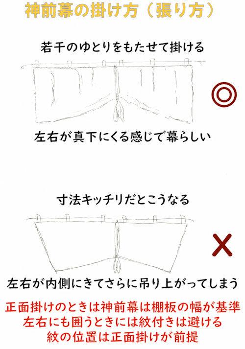 京友禅特選 神前幕 神幕 稲荷紋、巴紋 無地