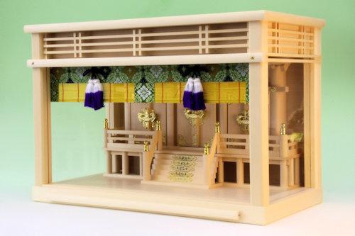 明るい神棚 すだれ付属のガラス箱宮神殿