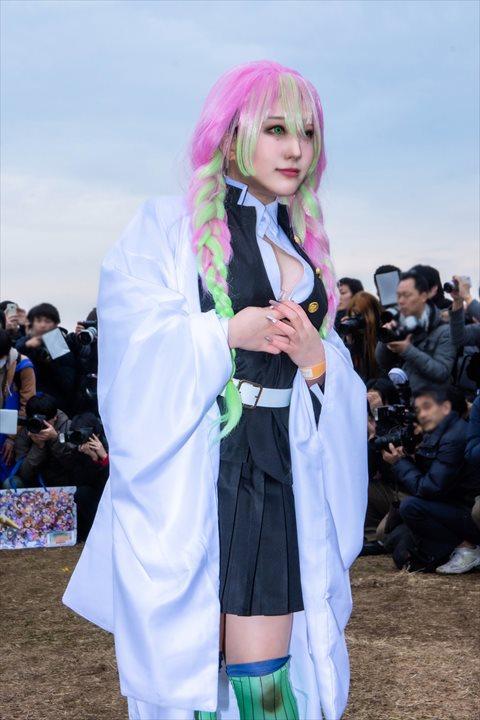 鬼滅の刃 甘露寺蜜璃 おもてちゃん コスプレ 03