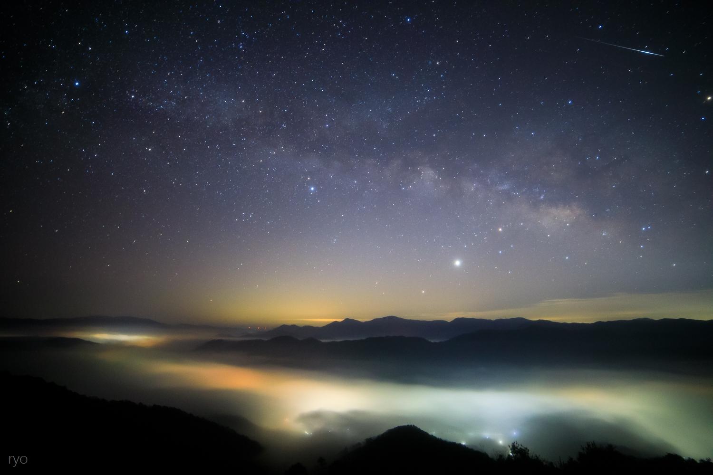天の川と流星と_1