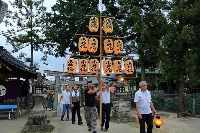 調田坐一事尼古神社 夏祭り1