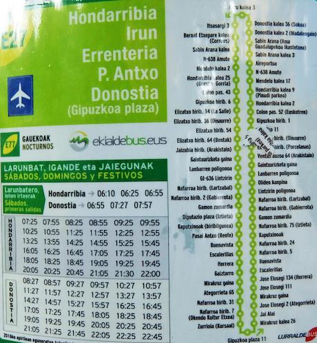 スペイン中東161バス時刻表