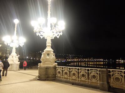 スペイン中東169サンセバスティアン夜景