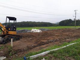 【写真】解体作業が終わり更地になった育苗ハウス跡