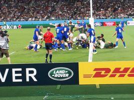 【写真】南アフリ対イタリアのラグビーワールドカップの試合の様子