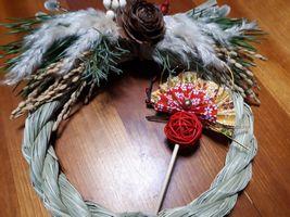 【写真】クリスマスリース兼お正月飾りのしめ飾り