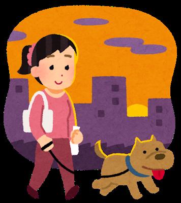 pet_dog_sanpo_yugata_woman.png