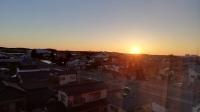 山形 酒田の海に沈む夕日