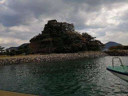 巌流島船から