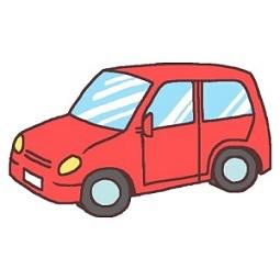 中古の赤い車