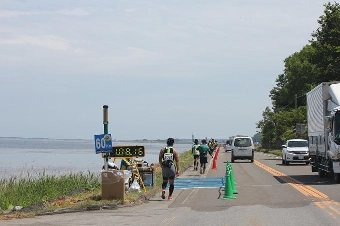 サロマ湖沿い(60キロ)