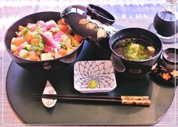 霰寿司で夕飯