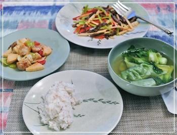 中華で夕飯です