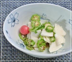 長芋&オクラ柚子ポン酢