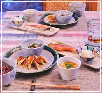 塩鮭で夕飯