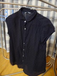 母のシャツ染めた後