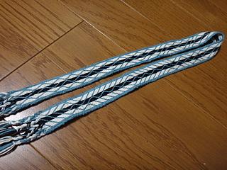 カード織WS課題2刺し子糸