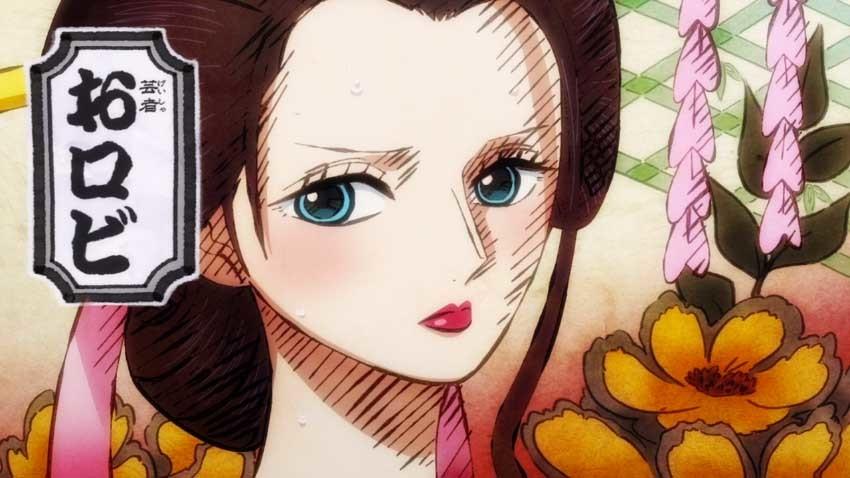 ワンピース アニメ ワノ国 おロビ