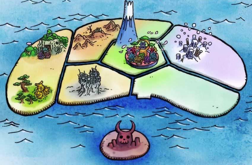 ワンピース アニメ ワノ国 地図