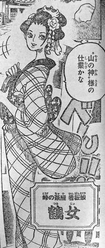 ワンピース アニメ 鶴女