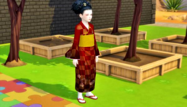 Sims4 子供の着物 配布しました