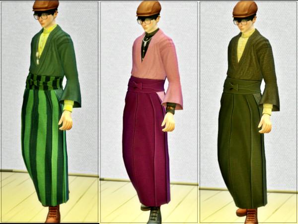 Sims4 ちょっとハイカラな和装 配布しました