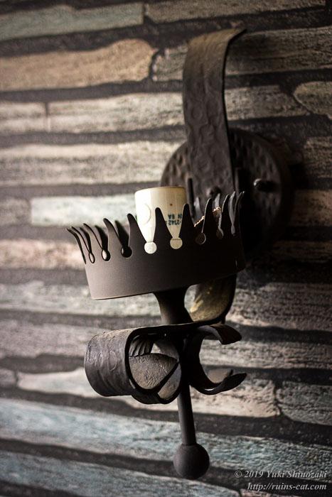 客室の壁に掛かっていたオシャレな照明器具