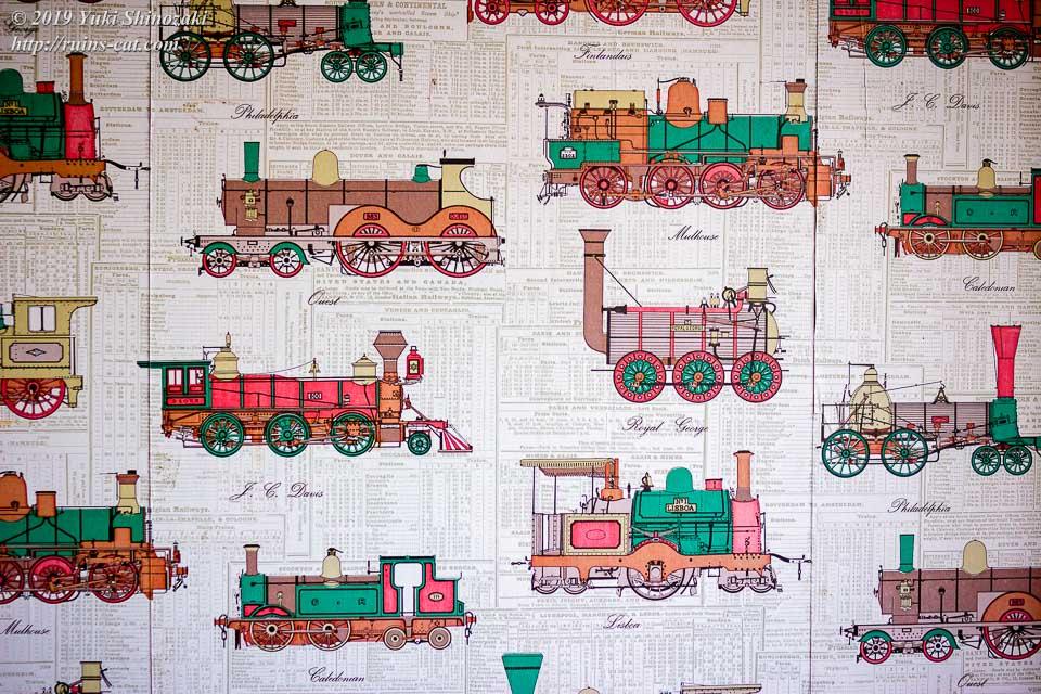 蒸気機関車が描かれた壁紙