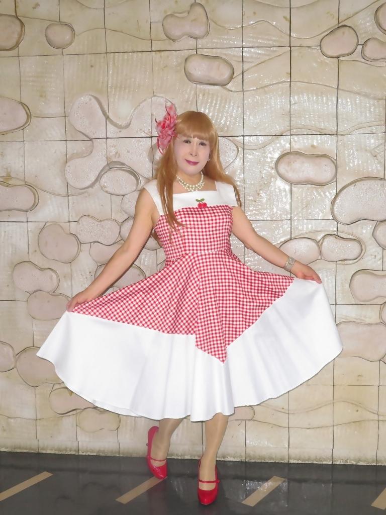 赤白格子柄舞台ドレスA(3)