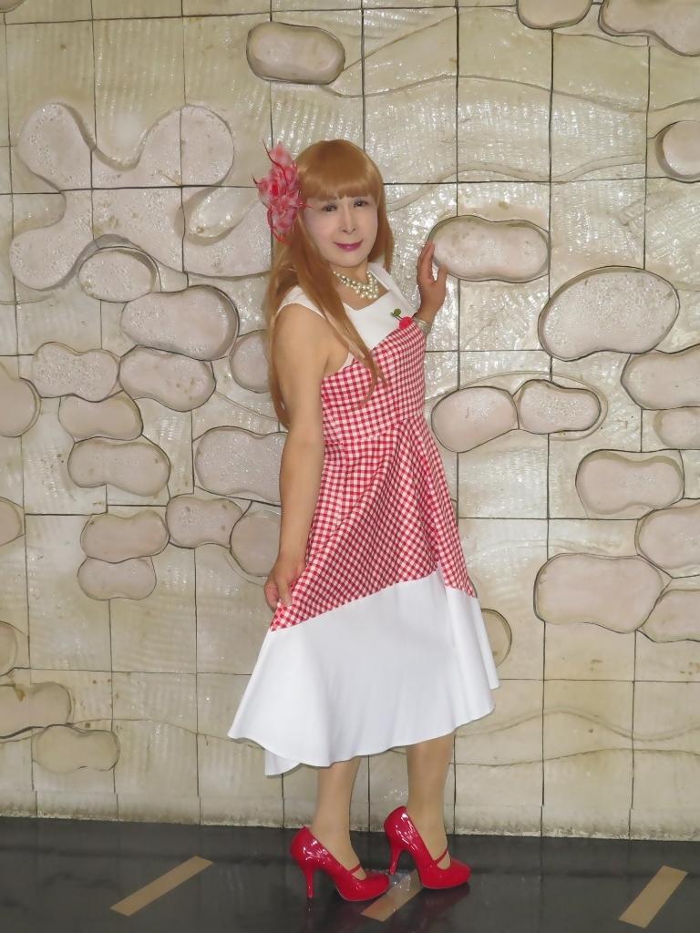 赤白格子柄舞台ドレスA(4)