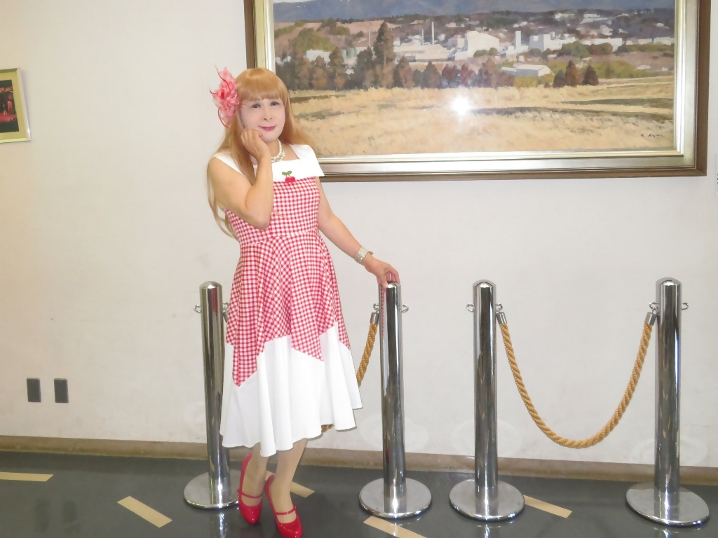赤白格子柄舞台ドレスA(7)