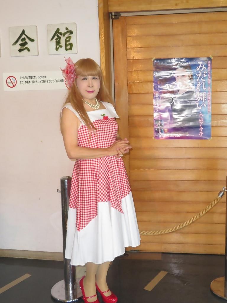赤白格子柄舞台ドレスB(1)