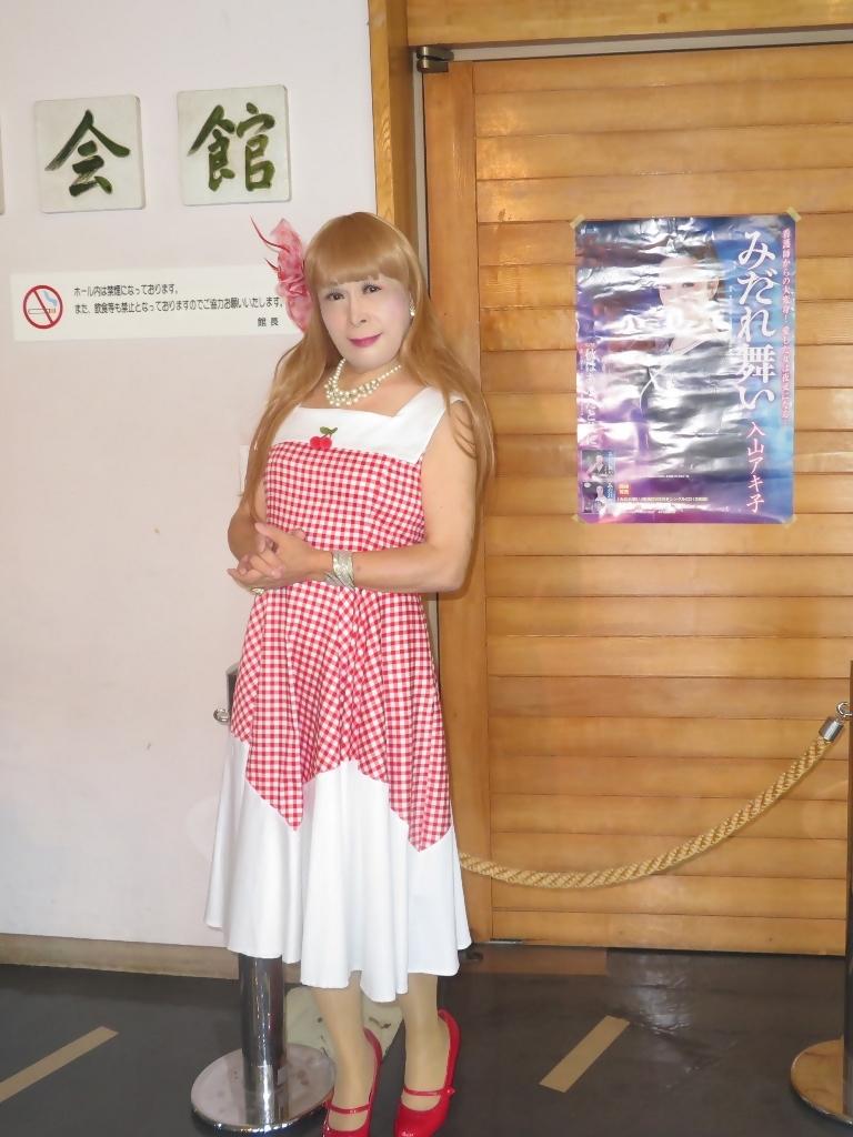 赤白格子柄舞台ドレスB(2)