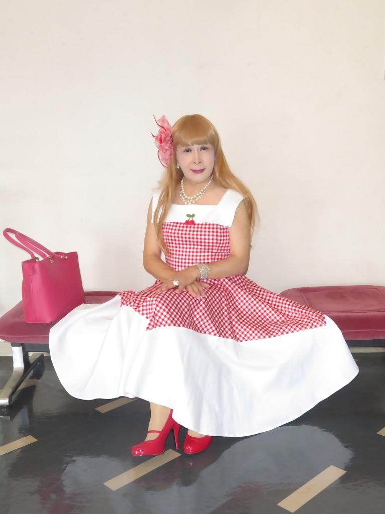 赤白格子柄舞台ドレスC(1)