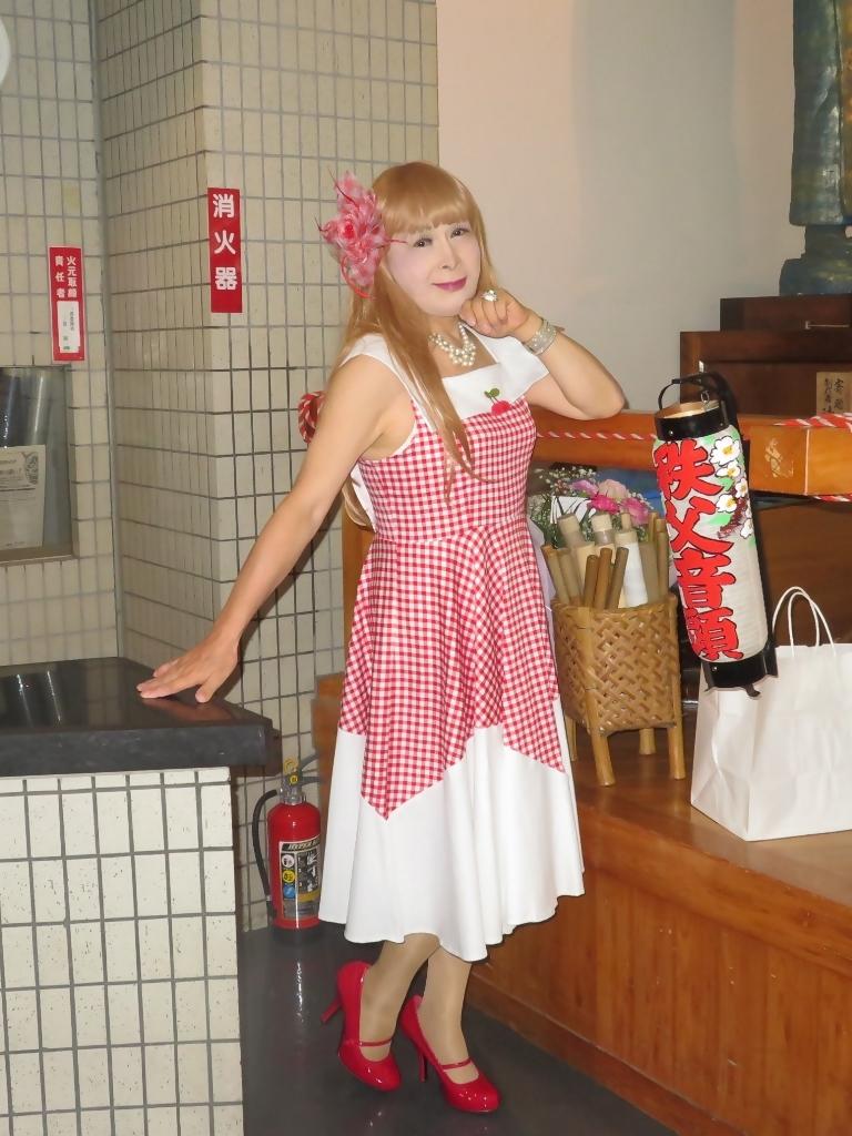 赤白格子柄舞台ドレスC(4)