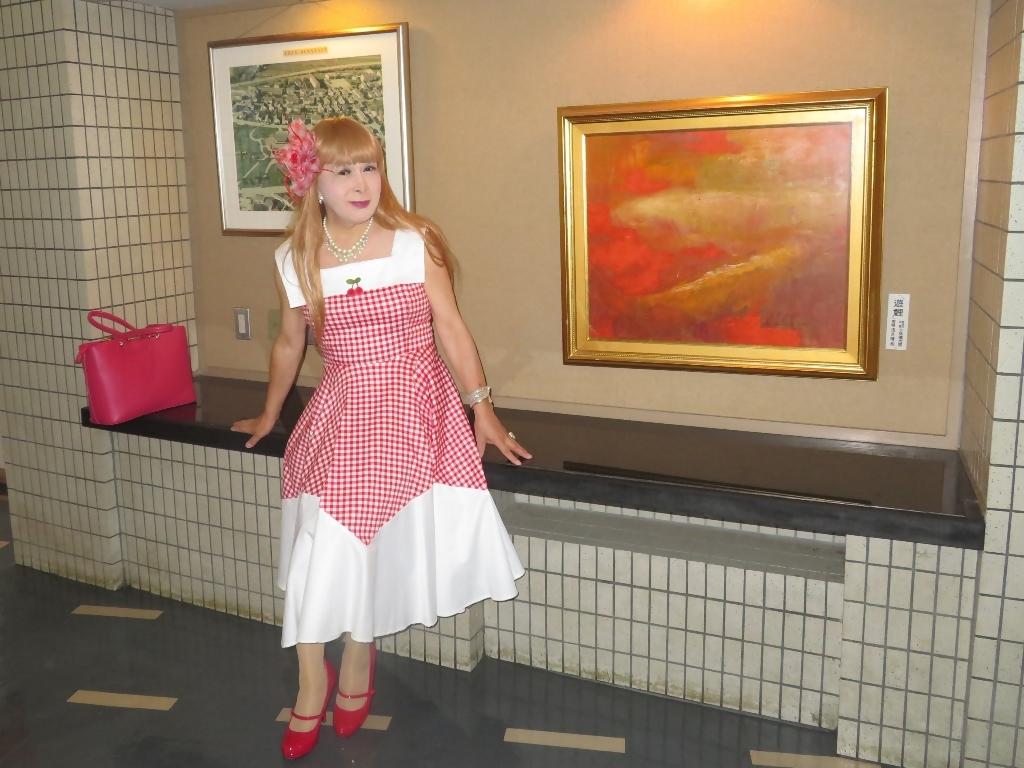 赤白格子柄舞台ドレスC(8)