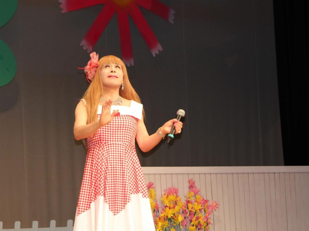 赤白格子柄舞台ドレス横画像(4)